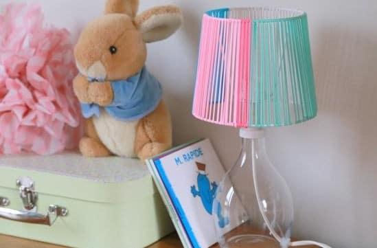 diy fabriquer une lampe pour la chambre de votre enfant lustre enfant. Black Bedroom Furniture Sets. Home Design Ideas