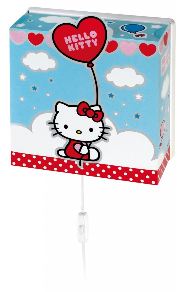 Lampe murale Hello Kitty bleue